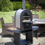 La Hacienda Romana Pizza Oven Double skin Pizza Oven / Smoker Black/ Stainless steel