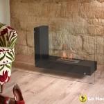 La Hacienda Alma L Fireplace Black with Glass