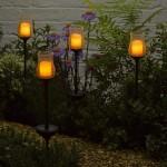 Smart Solar Candle Stake Light Amber LED 2pk