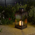 Smart Solar Tangier Lantern – Antique Bronze