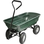 Kingfisher 4 Wheel Tipping Action 75L Garden Cart