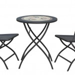 Leisuregrow South Cape 60cm Round Folding Bistro Set