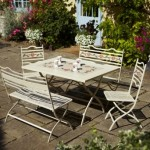 Leisuregrow Claremont Rectangular Folding Table Bistro Set