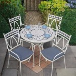 Leisuregrow Marrakech 90cm Round 4 Seater Dining Set