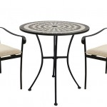 Leisuregrow Casablanca 76cm Round Bistro Set