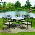 Leisuregrow Casablanca 100cm Round 4 Seater Dining Set