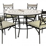 Leisuregrow Casablanca 135cm Round 6 Seater Dining Set