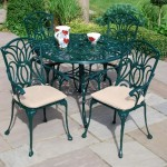 Leisuregrow Norfolk Green 100cm Round 4 Seater Dining Set