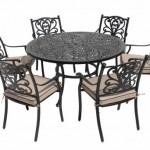 Leisuregrow Devon 135cm Round 6 Seater Dining Set