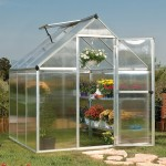 Palram Mythos 6 x 6 Silver Polycarbonate Greenhouse