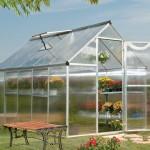 Palram Mythos 6 x 10 Silver Polycarbonate Greenhouse