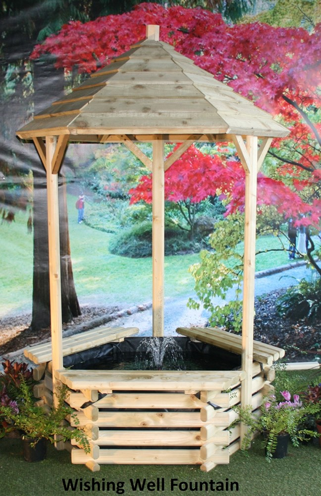 Norlog Wishing Well Fountain With Pump Garden Centres