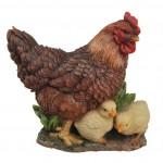 Vivid Arts Plaque Hen/Chicks – Size D