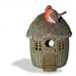 Vivid Arts Bird Care Wicker Robin Birdhouse – Size D