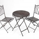 Greenhurst Versailles Bistro Set Antique Grey