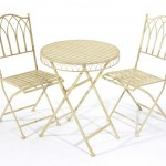 Greenhurst Versailles Bistro Set Cream