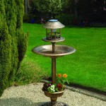 Greenhurst Bird Bath/Feeder with Solar Light & Planter