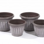 Greenhurst Pack of 4 Georgian Style Chocolate Planters