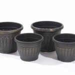 Greenhurst Pack of 4 Georgian Style Antique Gold Planters