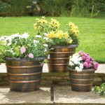 Greenhurst Pack of 3 Bee Hive Plastic Planters