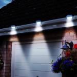 Powertek Set of 2 Solar Gutter Lights White