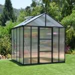 Palram 8 x 8 GLORY (Dark Grey) Premium Greenhouse