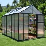 Palram 8 x 12 GLORY (Dark Grey) Premium Greenhouse