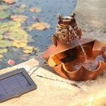 Smart Solar Ting Tang Frog Fountain with light