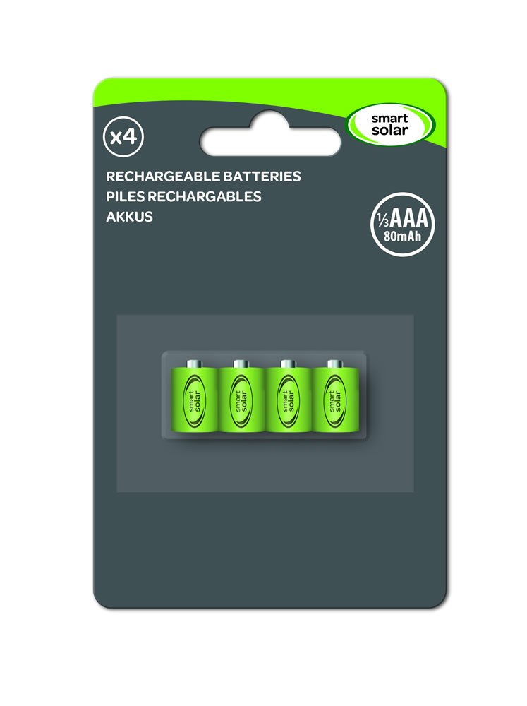 Aaa Near Me >> Smart Solar 1 3 Aaa 80 Mah Rechargeable Batteries 4pk