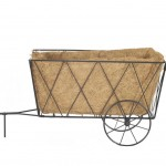 Smart Garden Metal Hay Cart Planter