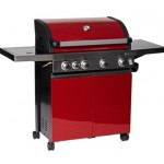 Grillstream Classic 4 Burner Roaster with Side Burner (Red)