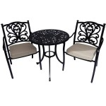 Leisuregrow Devon 75cm Round Bistro Set