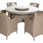 Leisuregrow Saigon Heritage Weave 140cm Dining Set with Armchairs