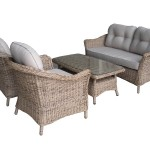 Leisuregrow Saigon Colonial Weave Cafe Lounge Set