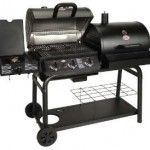 Char-Griller Duo Gas and Charcoal Barbecue with Side Burner