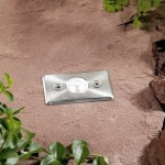Axis White LED Outdoor Deck Light 0.3w