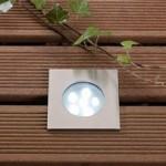 Breva White LED Outdoor Deck Light 1w