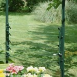 Halls 18in Green Louvre Window Toughened Glass