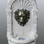Bermuda Lions Mask Wall Mounted Water Feature