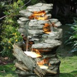 Bermuda Woodland Cascade Water Feature With Led Lights