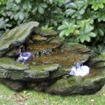 Bermuda Rock Cascade Water Feature With Led Lights