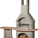 Buschbeck Carmen BBQ/Fireplace with Side Table