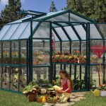 Rion Grand 8X12 Greenhouse with Base – Clear Glazing