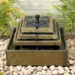 Smart Solar Slate Tiered Fountain