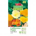 Country Value CALIFORNIAN POPPY Single Mixed Seeds