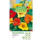 Country Value NASTURTIUM Tall Single Mixed Seeds