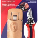 Spear & Jackson Razorsharp Bypass Secateurs & Leather Holster Set