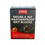 Rentokil Mouse & Rat Waterproof Bait Blocks 48