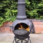 Gardeco Toledo Large Cast Iron Chimenea (BLACK)