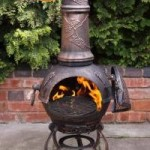 Gardeco Toledo Large Cast Iron Chimenea (GRAPES)